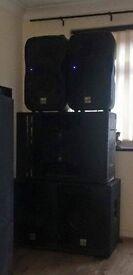 Active Speaker Set Up for DJ or PA x 5