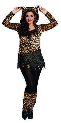 Leopard Wild Raubkatze Leopardenshirt Tierkostüm Kostüm für Damen