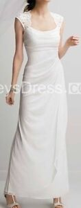 Cap Sleeve Wedding Dress (Approx size 12)
