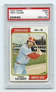 1974-TOPPS-286-TONY-MUSER-CHICAGO-WHITE-SOX-PSA-5