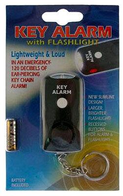 Hand Held+Pocket+Keychain Alarm Flashlight NEW SAFETY, SELF DEFENSE, SECURITY KS