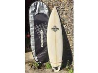 Fluid Foils Surfboard, Leash & Board Bag