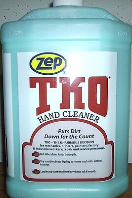 ZEP TKO HAND CLEANER 4 GALLON CASE WITH HAND PUMP, FREE SHIPPING TO MOST STATES