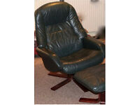 Swivel Chair & foot stool