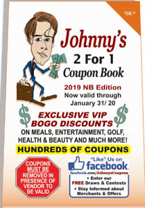 Johnny's 2 For 1 Coupon Books