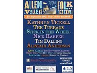 2 weekend passes to Allen Valleys Folk Festival 30th Sept - 2nd Oct £40 each (bought for £60)