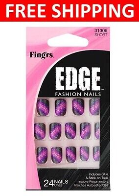 Fingrs Edge (FING'RS EDGE Fashion Nails Includes Glue & Stick-On Manicure 24 Nails #31306)
