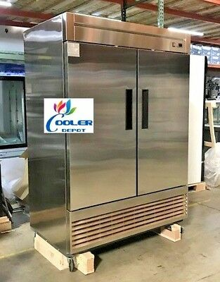 Coolerdepot 55f Commercial Double Two Door Reach In Freezer Nsf Approved