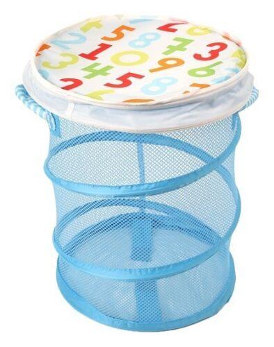IKEA Kid laundry Mesh Basket With Lid, Blue