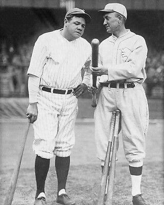 1927 Yankees BABE RUTH & Tigers TY COBB Glossy 8x10 Photo Print Photograph