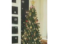 5ft Christmas tree + decoration + lights. 15£