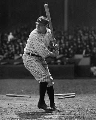 New York Yankees BABE RUTH Glossy 8x10 Photo Vintage Baseball Print Poster