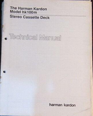 Harman Kardon hk 100xm cassette service repair workshop manual (original copy)