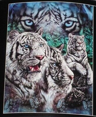 Bengal Blanket - New 12 White Tigers Soft Fleece Throw Gift Blanket Jungle Tiger Big Cats Bengal