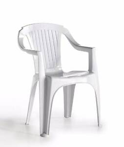 3 Plastic Chairs (White) for Sale Waterloo Inner Sydney Preview