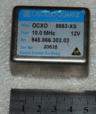 10 Mhz Double Oven Ocxo Sinewave 8663-xs 12v Oscilloquartz Ocxo 8663-xs