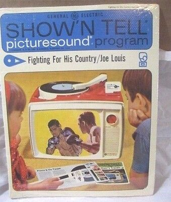 SHOW N' TELL GENERAL ELECTRIC JOE LOUIS FIGHTING FOR HIS COUNTRY SEALED VINTAGE