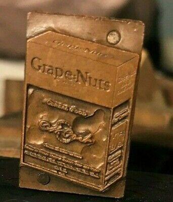 Vintage Letterpress Printers Block Grape Nuts