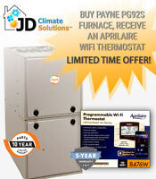 Payne/Carrier Furnace $2500 installed (Repair, Replace.. etc)