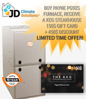 PROMO! New Payne Furnace $2650 installed ( also repair&replace)