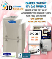 Promo New Carrier Furnace 2950$ installed ( also repair&replace)