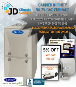 carrier infinity furnace. carrier infinity furnace upgrade installed - we pay the gst!