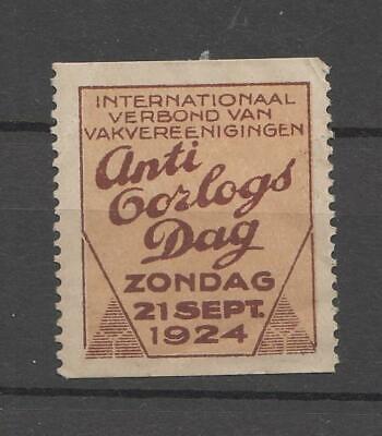 Netherlands cinderellas #138 - Anti war day 1924