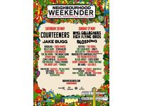2x Neighbourhood Weekender Tickets 26th/27th of May. Less than face value. Full Weekend