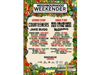2 x Neighbourhood Weekender tickets, Saturday 26th May