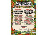 2x Neighbourhood Weekender 26th and 27th May full weekend tickets