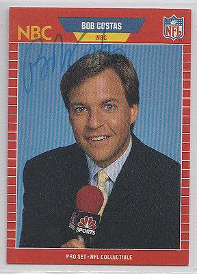 Bob Costas Pro Set Nfl Announcer Signed Card Autograph
