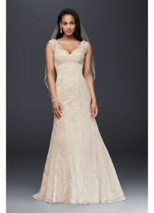 Lace overlay wedding dress for sale