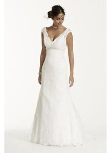 Lace Wedding Dress - size 16