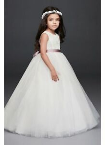 Gorgeous flower Girl Dress - white and new for $90