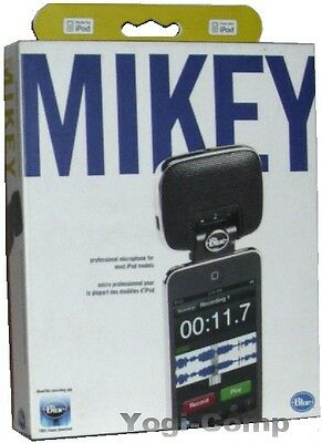 Blue Microphones Mikey 2.0 Microphone 2 for iPhone 3GS & iPod NEW!