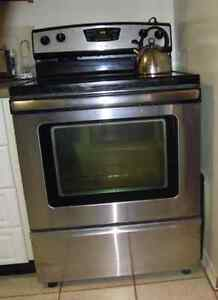 MOVING SALE - Stainless steel, glass-top range