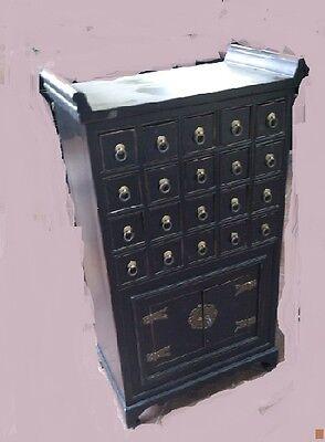 Antiker Apothekerschrank Kabinet Schrank Apotheke Massivholz Breite55xHöhe98cm