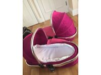 Fushcia pink iCandy peach carrycot