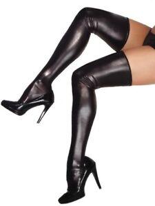 Liquid latex thigh-high stockings