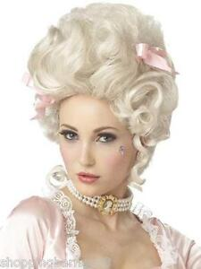 GENUINE Marie Antoinette Adult Costume Hair Wig with Pink Bow