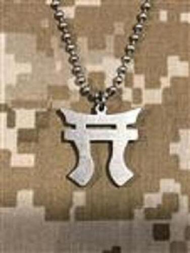 GI JEWELRY,  U.S. Military, RAKKASAN - Necklace Pendant With Beaded Chain