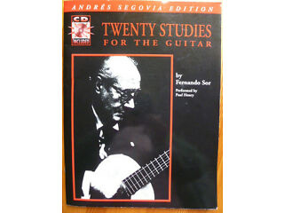 Book and audio guitar tuition - twenty studies for guitar including cd