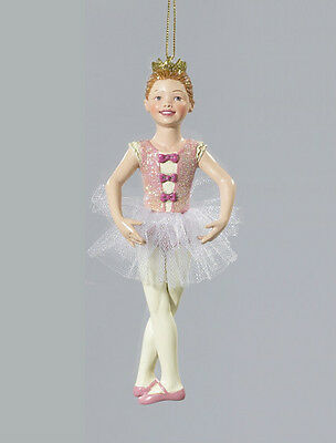 KURT S. ADLER HANDPAINTED BALLERINA BALLET DANCER IN 5TH POSITION XMAS ORNAMENT ()