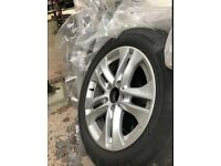 Mercedes 16 inch 2016 alloy wheels and tyres x 4