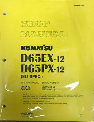 Komatsu D65ex 12  D65px 12 Dozer Crawler Tractor Bulldozer Shop Service Manual