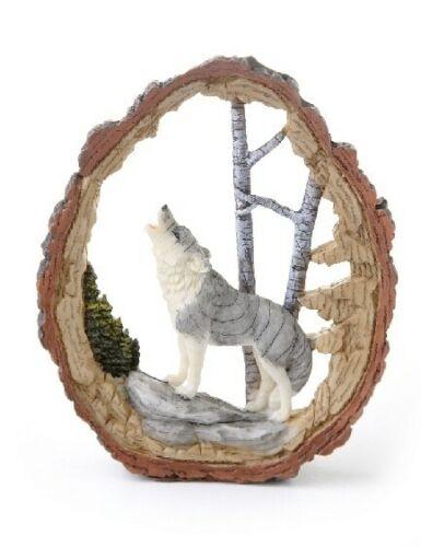 Howling Wolf Carving - NIB