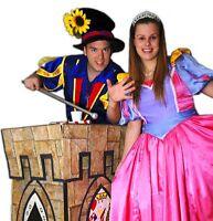 2 pour 1 Princesse et Magicien Anniversaire pour fête d'enfants