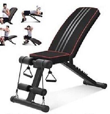 Banco de musculación plegable, abdominales, banco reclinable para gimnasio