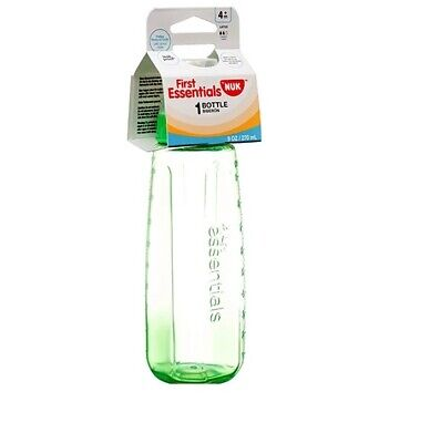 NUK First Essentials Bottle Medium Flow, 9 oz, 4M+ 1 ea