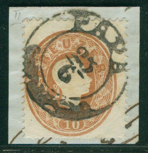 Österreich 1860 Nr. 21 Briefstück PAPA Ungarn
